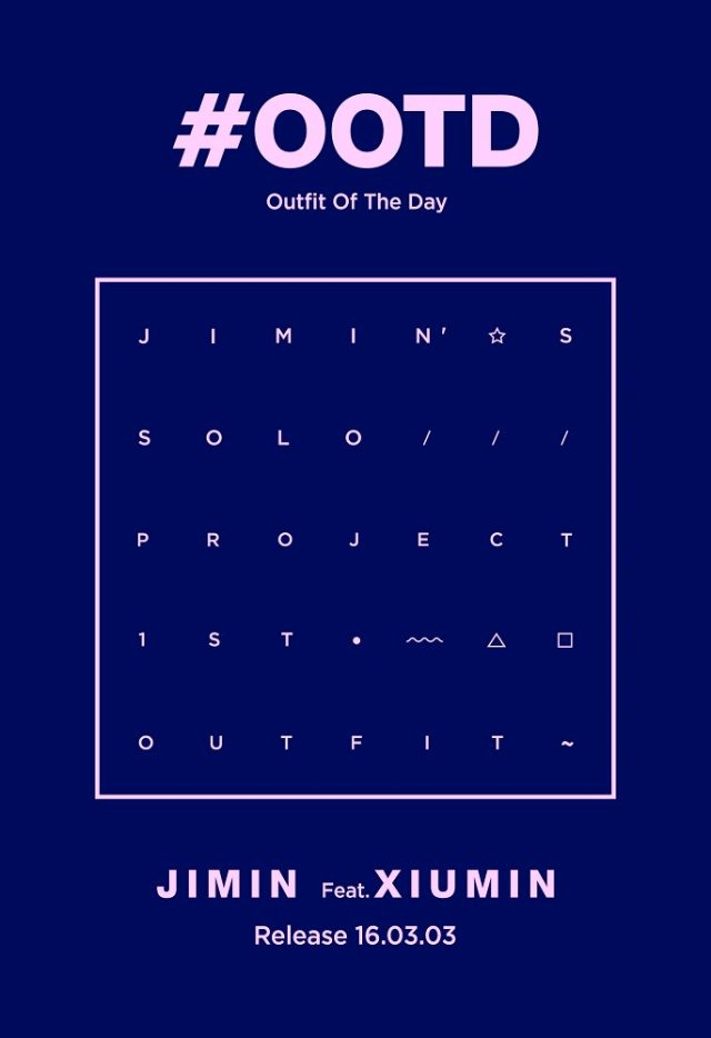 JIMIN'S SOLO PROJECT #OOTD COMING SOON!